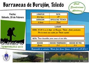Cartel Barrancas de Burujon, Toledo