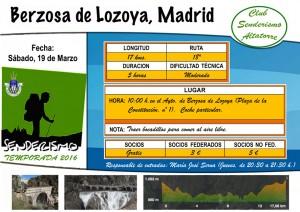 Cartel Berzosa de Lozoya, Madrid